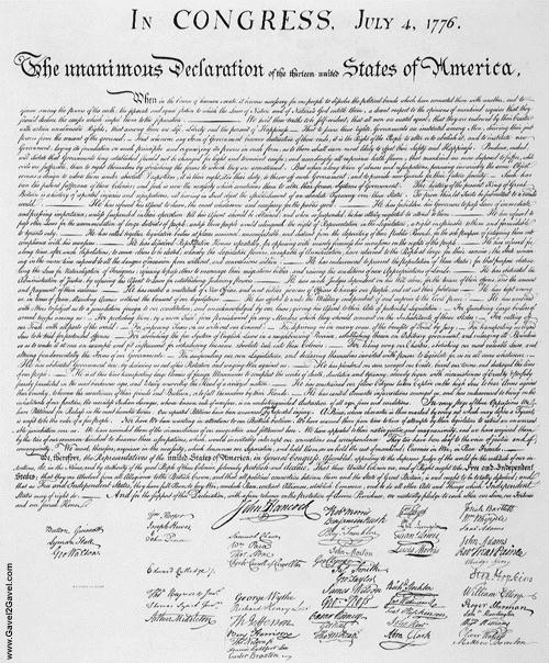 Click here to read the original Declaration of Independence